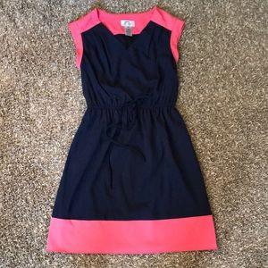 Sweet Storm short sleeve colorblock dress